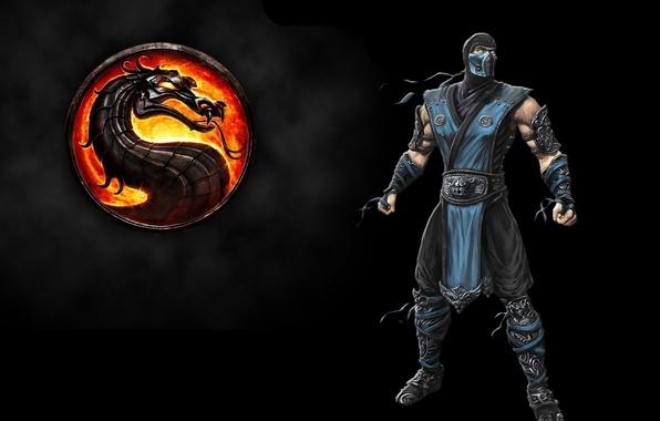 Картинка fire, flame, ice, logo, game, fighter, dragon, xbox 360, mortal kombat, ninja, mk9, mortal kombat …