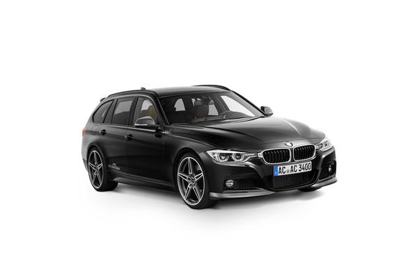 Картинка черный, бмв, BMW, белый фон, Black, универсал, AC Schnitzer, F31, 3-Series
