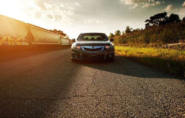 Картинка перед, Honda, Accord, солнечно, хонда, Tuning, акура, Acura, Vossen, Wheels, TSX
