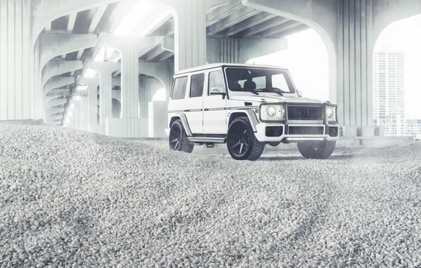 Картинка Mercedes-Benz, white, G55, front, G-Klasse, W463