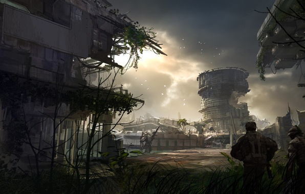 Картинка Робот, Солдат, Арт, Electronic Arts, Пилот, Титан, Titanfall, Respawn Entertainment