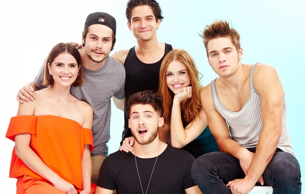 Картинка сериал, актеры, Teen Wolf, Tyler Posey, Dylan O'Brien, Holland Roden, Cody Christian, Shelley Hennig, Волчонок, …