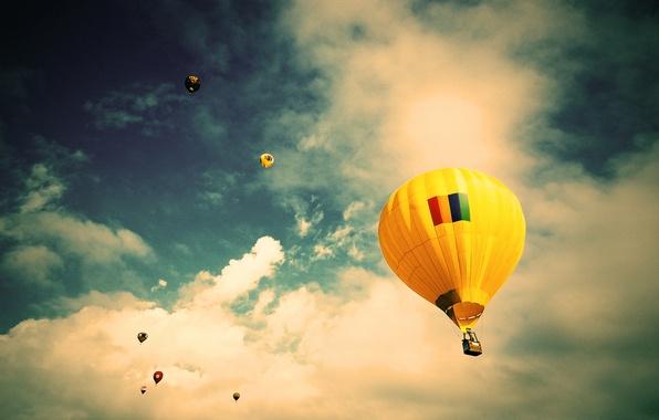 Картинка небо, облака, полет, воздушный шар, Бразилия, Сан-Паулу, экстремальный спорт, Jacareí