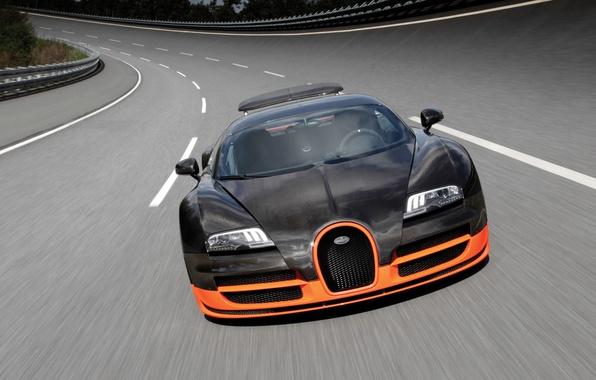 Картинка Машина, Bugatti Veyron, Super Sport, World Record