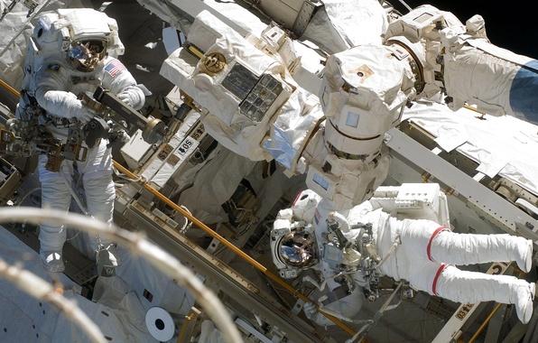 Картинка фото, космонавт, NASA, МКС, астронавт