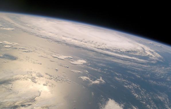 Картинка земля, планета, орбита, циклон
