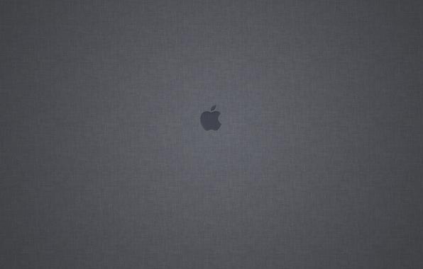 Картинка Apple, Яблоко, Серый фон, Mac os