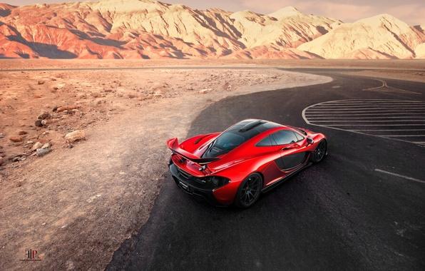 Картинка McLaren, Orange, Death, Sand, View, Supercar, Valley, Hypercar, Exotic, Rear, Volcano, Top, Extra, Terrestrial