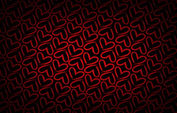 Картинка красный, фон, сердце, текстура, сердечки