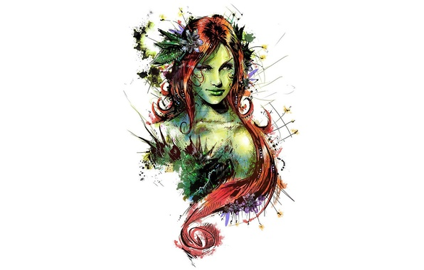Картинка art, comics, redhead, dc universe, poison ivy