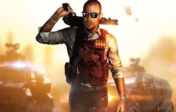 Картинка пистолет, оружие, руки, очки, татуировка, police, бронежилет, бронемашины, Electronic Arts, полицейский, коп, Дробовик, Visceral Games, …