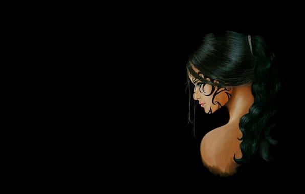 Картинка девушка, тату, арт, fantasy