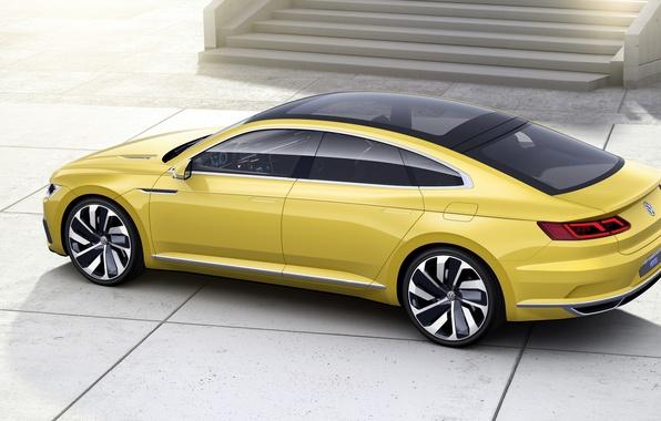 Картинка Concept, спорт, купе, Volkswagen, Coupe, фольксваген, Sport, GTE, 2015