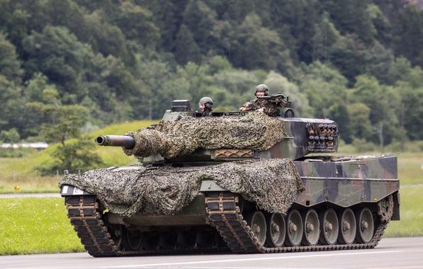 Картинка танк, камуфляж, боевой, Leopard 2