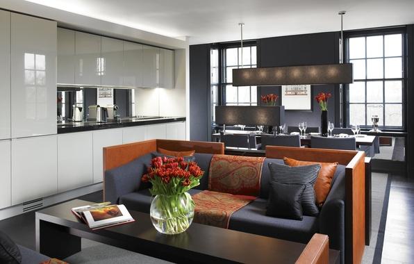 Картинка дизайн, стиль, комната, интерьер, кухня, столовая