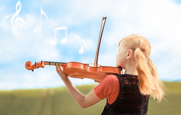 Картинка музыка, скрипка, девочка