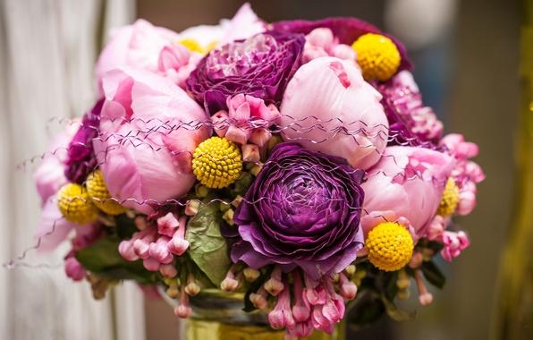 Картинка цветы, розовый, розы, flower, pink, bouquet, roses, букеты, wedding day, день свадьбы