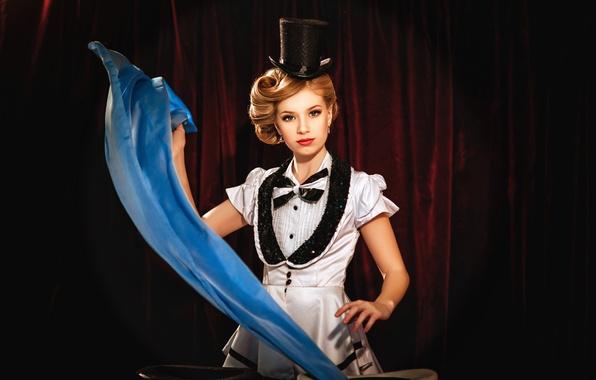 Картинка девушка, волшебство, магия, цирк, фокусы, представление, Diana lipkina