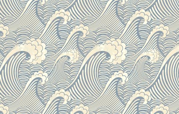 Картинка море, волны, вода, океан, вектор, текстура, широкоформатные обои, обои на рабочий стол, hd обои, hd …
