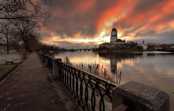 Картинка рассвет, Россия, 2014, Выборг, 1-ноября