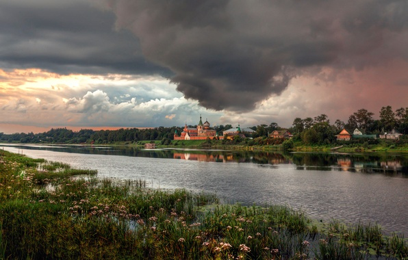 Фото обои Россия, Старая Ладога, перед бурей