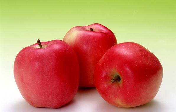 Картинка фон, widescreen, обои, яблоки, яблоко, еда, фрукт, красные, wallpaper, фрукты, широкоформатные, background, полноэкранные, HD wallpapers, …