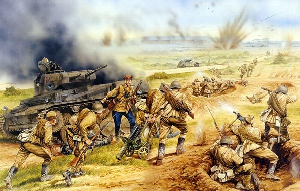 Обои армия, арт, Операция, солдаты, ВОВ, WW2., через, корпуса ...