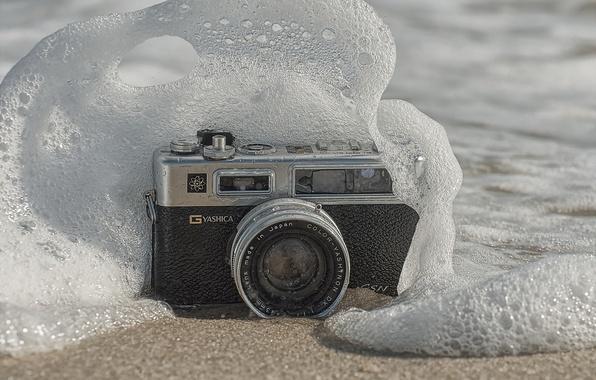 Картинка макро, волна, камера