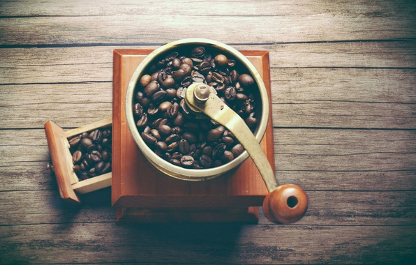 Картинка кофе, кофейные зёрна, кофемолка