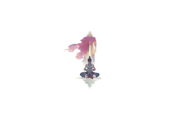 Картинка поза, фон, Avatar, Korra, Aang, The Legend Of Korra
