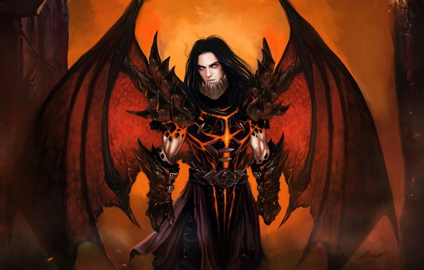 Демон и ангел арты