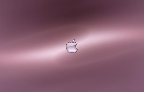 Картинка фон, розовый, Apple, яблоко