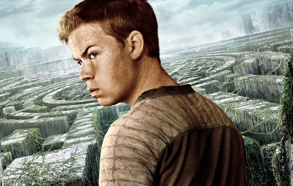 Картинка cinema, sky, man, boy, survivor, face, labyrinth, british, film, vegetation, 2014, The Maze Runner, Will …