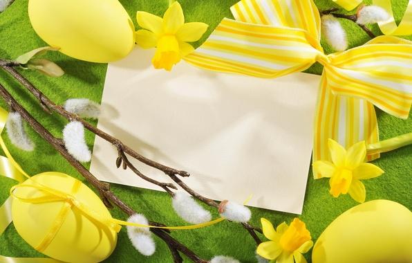 Картинка фото, Пасха, Яйца, Праздник, Бантик