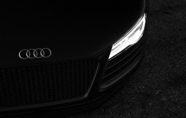 Картинка машина, черный, Audi R8, автомобиль