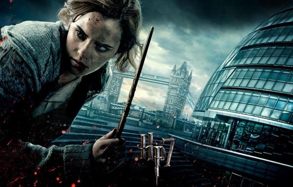 Картинка девушка, кровь, лондон, актриса, грязь, маг, волшебница, эмма уотсон, emma watson, волшебная палочка, hermione granger, …