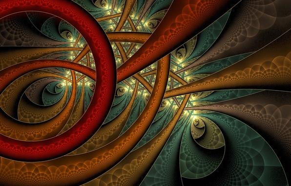Фото обои линии, узор, краски, дуга, объем