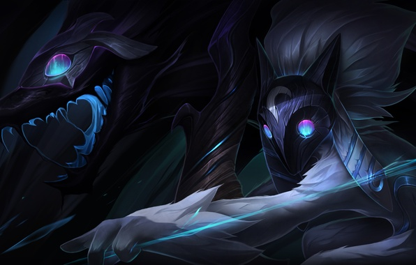 Картинка lol, League of Legends, Riot Games, moba, Kindred, Eternal Hunters