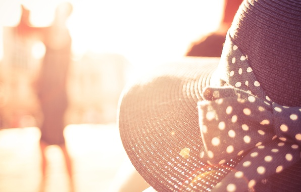 Фото обои лето, солнце, шляпа