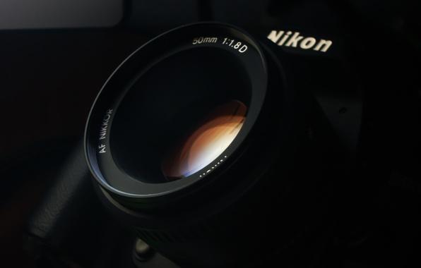 Картинка стекло, фото, обои, камера, фотоаппарат, объектив, линза, nikon, никон, Елунин Роман, 50 mm