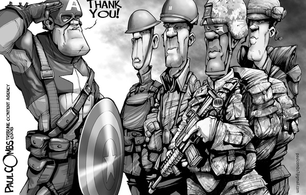 Фото обои thanks, Veterans' Day, Captain America, soldiers