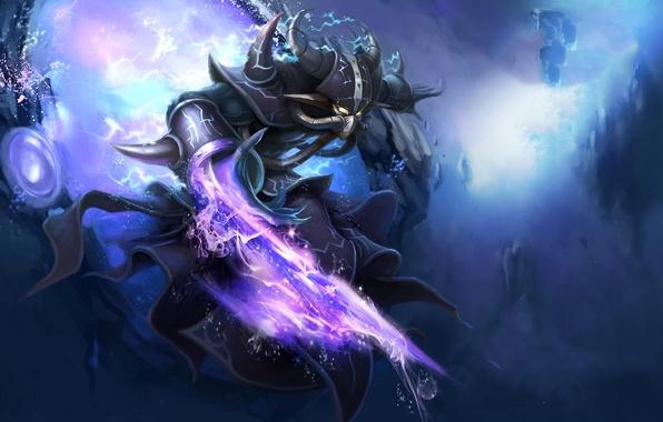 Картинка камни, оружие, магия, молнии, монстр, портал, league of legends