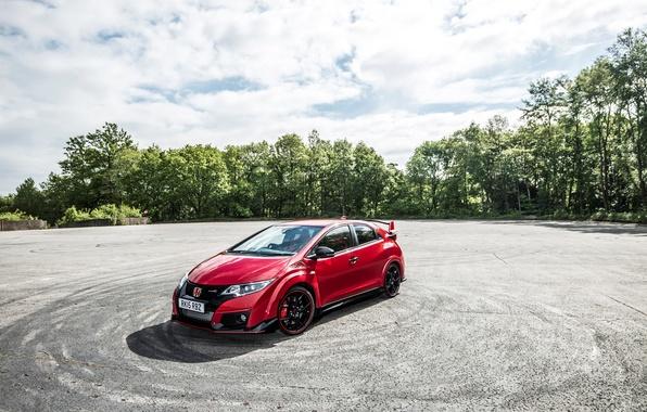 Картинка Honda, хонда, Civic, UK-spec, цивик, Type R, 2015