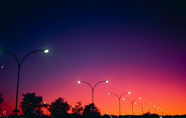 Картинка свет, Цвет, вечер, фонари
