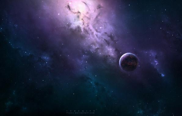 Картинка космос, планеты, арт, space, universe, art, planets