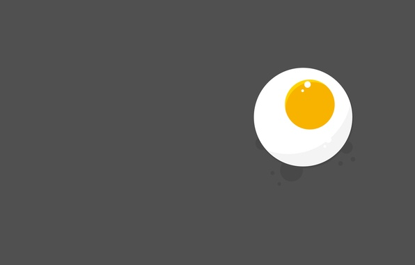 Картинка еда, яичница, желток, глазунья, белок