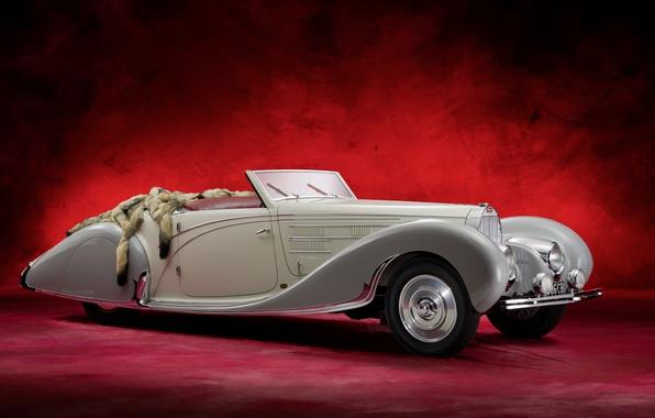 Картинка Bugatti, retro, Cabriolet, old car, Type 57C