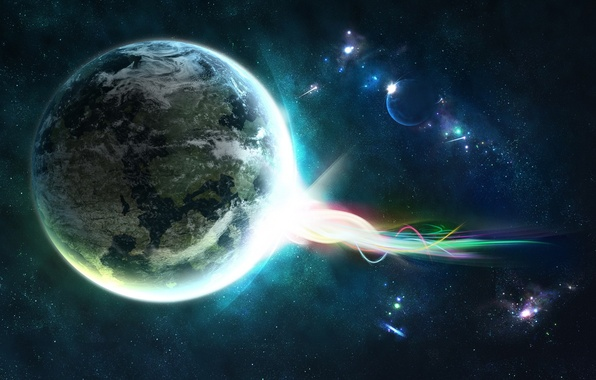 Картинка энергия, звезды, планета, 149