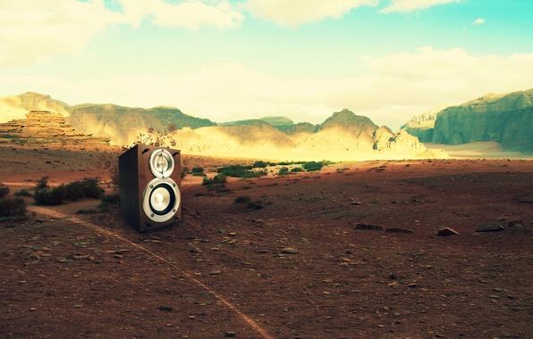 Фото обои креатив, живая сила, горы, музыка, ландшафт, камни