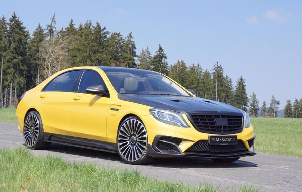 Картинка Mercedes, Carbon, AMG, Yellow, Mansory, S63